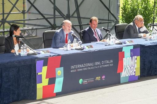 La conferenza stampa di presentazione degli Internazionali BNL d'Italia 2020 (foto Sposito)