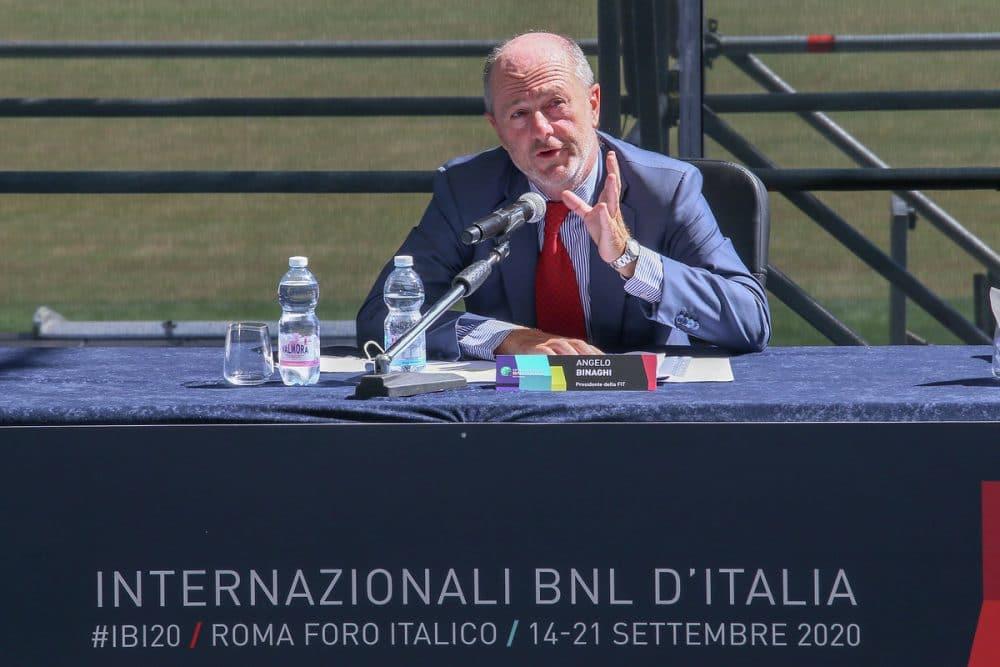 Il presidente della FIT Angelo Binaghi
